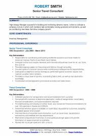 Sample Travel Management Resume Travel Consultant Resume Samples Qwikresume