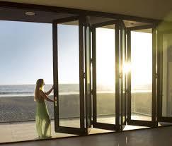 Kitchen Bifold Patio Door With Black Aluminum Frame For Country - Bifold exterior glass doors