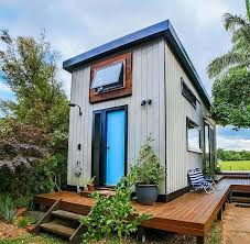 the byron tiny house is a stunning modern australian tiny house designed by nadia marshall where she lives with her husband kester and their australian