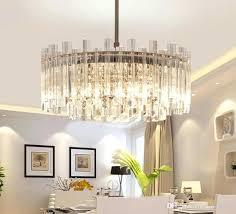crystal pendant light for kitchen island chandeliers modern luxury round