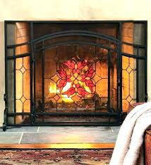 stained glass fireplace screen s patterns screens freestanding pat