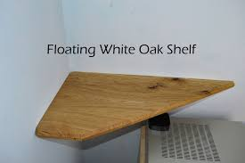 Oak Corner Floating Shelves Custom Beautiful White Oak Floating Corner Shelf 32 Steps With Pictures