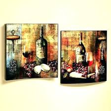 wine decor for dining room kitchen wall art decorating