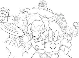 Marvel Superhero Coloring Pages Marvel Superhero Coloring Pages With