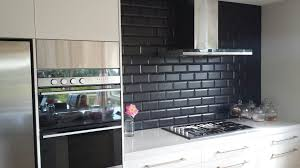 Black Kitchen Backsplash Black Subway Tile Kitchen Backsplash To Black Subway Tile Kitchen