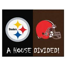 fanmats nfl steelers browns black house divided 3 ft x 4 ft area