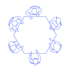 Hexagon Seating Chart Hexagon Table Sizes Dimensions Drawings Dimensions Guide
