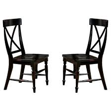 side chairs target. roanoke x-back side chair wood/black rubbed (set of 2) - imagio home chairs target