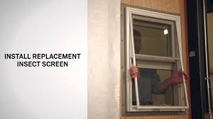 insect screen replacement on andersen a series double hung windows you