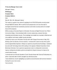Technical Manager Cover Letter 7 It Manager Cover Letter Free Sample Example Format Download