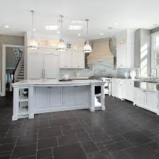 ... Appealing Kitchen Floor Lino Rubber Bathroom Flooring Black Stone Kitchen  Floor With White Table ...