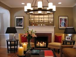 image of how to decorate a living room with a fireplace wall