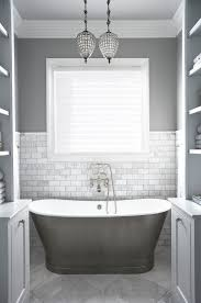white crown molding bathroom traditional amazing ideas with freestanding bathtub gray and white bath bathroom pendant lighting ideas gray stained wall