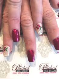Classic Design Nails A Classic Design In Crimson And Cream Great Sooners Colors