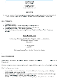 97 Bartender Resume With No Experience Bartendending
