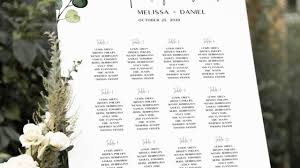 Personalized Seating Chart Personalized Wedding Seating Charts Seating Chart Stands