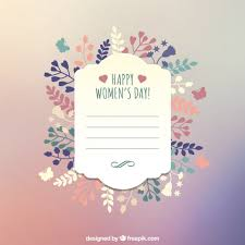greeting card templates free happy womens day greeting card template vector free download