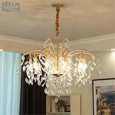 Us 1950 Neue Kunst Blätter Kristall Kronleuchter Beleuchtung Amerikanischen Land Wohnzimmer Esszimmer Hängen Lampe Moderne Französisch Lüster
