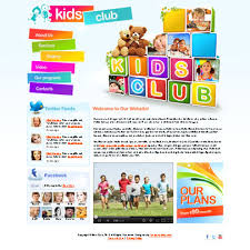 Free Templates For Kids Free Kids Club Html5 Website Template Tonytemplates Blog