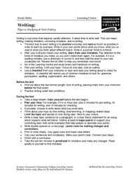 study skills early childhood education libguides at vancouver  study skills for writing tests