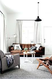 beautiful brown leather sofas sofa living room with grey rug via dowel light couch ideas