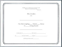 Element Birth Certificate Birth Certificate Templates Template Cute Blank Free Meetwithlisa Info