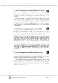 Data Warehouse Requirements Document Template – Vanilja