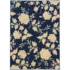 8x11 blue vines leaves petals fl area rug sphinx aprx 7 10 x
