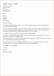 Internship Proposal Unique Lab Internship Cover Letter Examples
