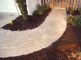building a brick walkway