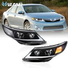 2014 Camry Led Lights Details About Vland Led Headlights For Toyota Camry Sedan 2012 2014 Black Housing Drlassembly