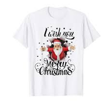 T Shirt Image For Design Amazon Com Merry Christmas T Shirt Design With Santa Claus