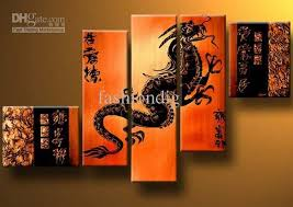 feng shui paintings for office. Oil Painting Dragon Feng Shui Decoration Modern High Quality Hand Painted Home Office Wall Art Decor Paining Paintings For G