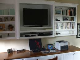 home office built ins. built in white computer desk with tv shelf home office ins s