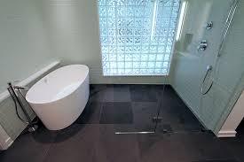 52 trough drain shower pan base prior to installation note pre slope toward back edge tile ez kadoka net