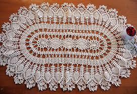 Oval Crochet Doily Patterns Free Interesting Free Crochet Oval Tablecloth Patterns Finest Pineapple Crochet