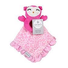 Amazon.com : Carter's Owl Plush Security Blanket with Rattle by ... & Carter's Owl Plush Security Blanket with Rattle by Triboro Quilt Adamdwight.com