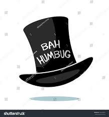 Bah Humbug Hat With Lights Cartoon Ebenezer Scrooge Bah Humbug Top Stock Vector
