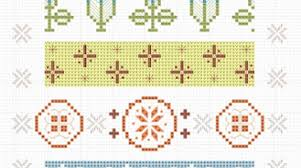 Pyrex Color Chart Vintage Pyrex Pattern Cross Stitch Chart Make