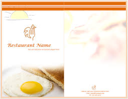 breakfast menu template indian menu template format template cups pinterest menu