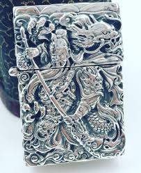 cqd 56 45 2mm s925 sterling silver six sides handmake punk carved guanyu dragon