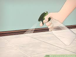 image titled clean grout with baking soda step 4