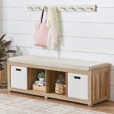 better homes and gardens 4 cube organizer storage bench multiple finishes com