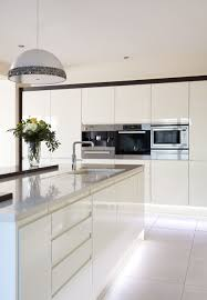 Stunning White Gloss Handleless Kitchen Ideas And Cabinets Color