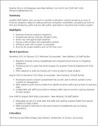 Resume Templates: Staff Auditor