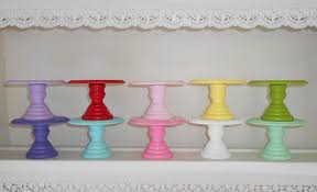 Decorative Cake Stands Wood Cupcake Or Mini Cake Stand Pedestal Choose Your Color