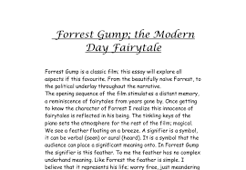 forrest gump the modern day fairytale a level history marked  document image preview