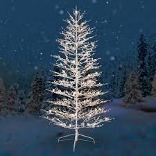 Plain Decoration Outdoor Pre Lit Christmas Tree GE 7 White Winterberry  Artificial Dual