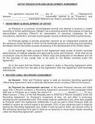 music management contract artist management agreement elegant management contract templates