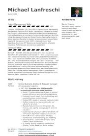Senior Business Analyst Resume Samples Hospinoiseworksco Senior ...